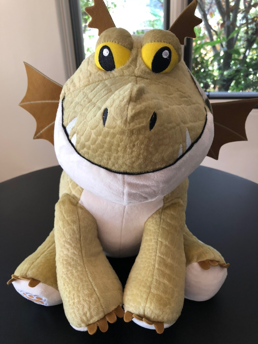 "A close-up of the now-stuffed Meatlug from ""How to Train Your Dragon,"" an online-exclusive from Build-a-Bear Workshop"