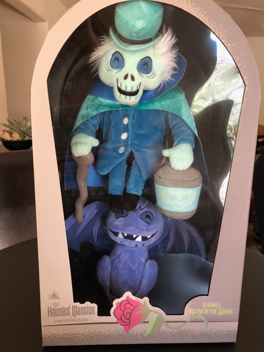 The Hatbox Ghost and a bat from the Haunted Mansion as part of a limited release plush series