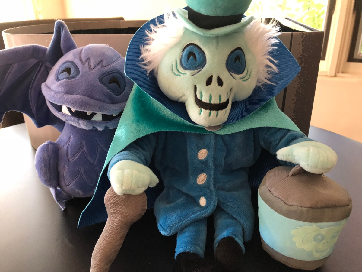 A Closer Look at the Limited Release Haunted Mansion Plush Set with the Hatbox Ghost andBat