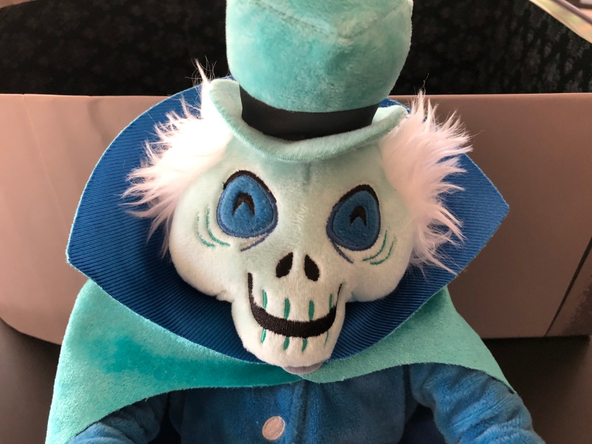 The Hatbox Ghost, part of the Haunted Mansion limited release plush series